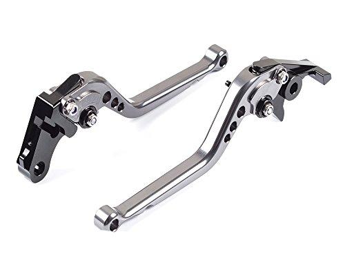 Tencasi Titanium CNC Long Adjustable Brake Clutch Lever for KTM 690 Duke R 2014 2015 2016 2017