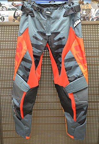 KTM Powerwear Racetech MX Riding Pants Grey  Orange Mens Size 36