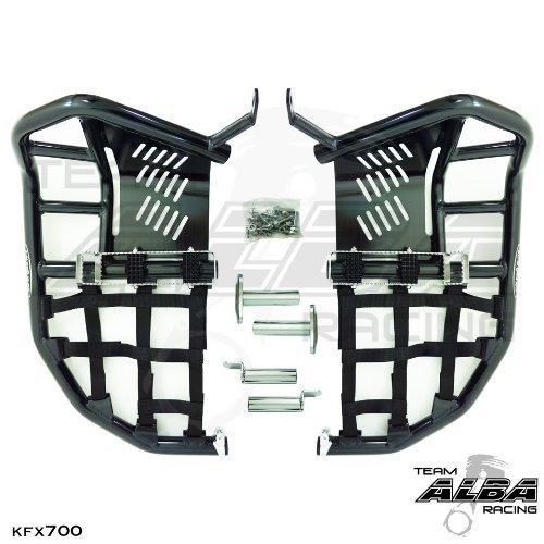 Kawasaki KFX 700 2004-2009 Propeg Nerf Bars Black Bars w Black Net