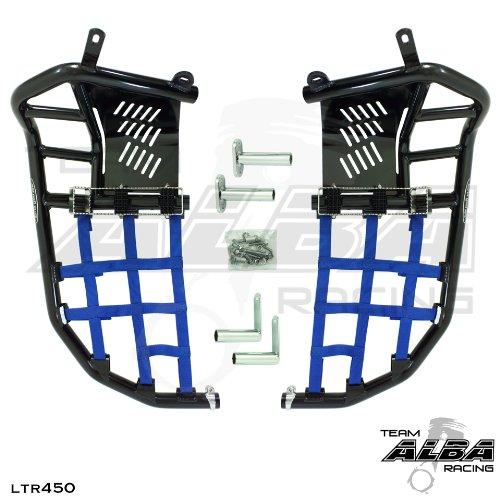 Suzuki LTR 450 QUADRACER 2006-2009 Propeg Nerf Bars Black Bars w Blue Net