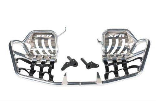 XFR Pro-Series II Foot Peg Nerf Bars W Heel Guards Honda TRX450R TRX450ER 2004-2014