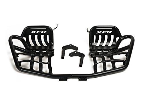 XFR - Pro-Series II Pro Peg Foot Peg Nerf Bars W Heel Guards Yamaha Raptor 250 Matte Black