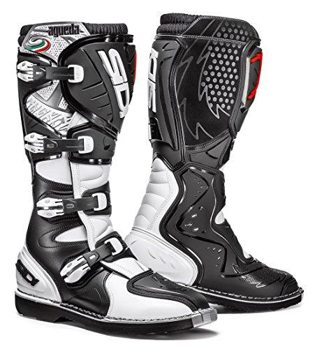 Sidi Agueda Off Road Motorcycle Boots BlackWhite US11EU45 More Size Options