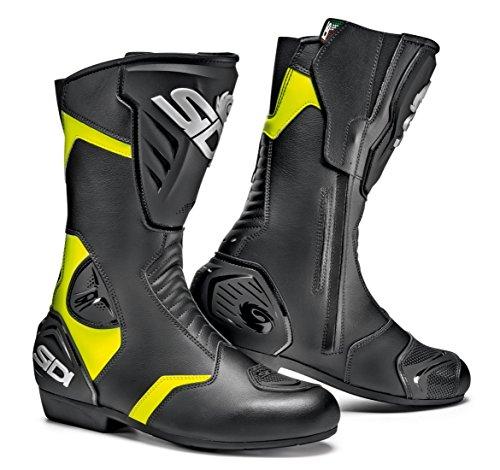 Sidi Black Rain Motorcycle Boots BlackFlo Yellow US125EU47 More Size Options