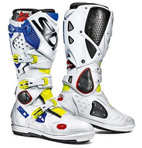 Sidi Crossfire 2 SRS Off Road Motorcycle Boots Flo YellowWhiteBlue US85EU42 More Size Options