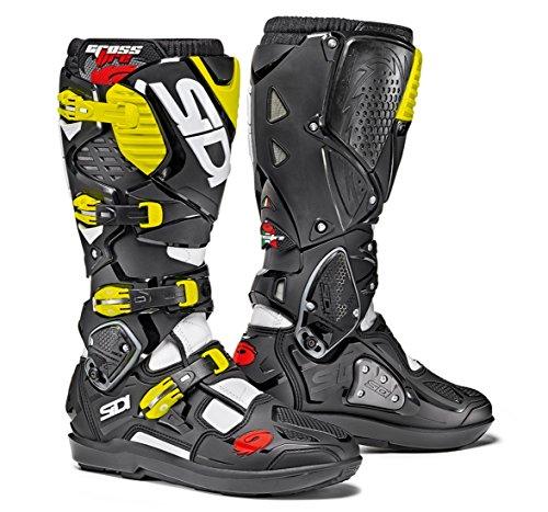 Sidi Crossfire 3 SRS Off Road Motorcycle Boots WhiteBlackFlo Yellow US95EU43 More Size Options