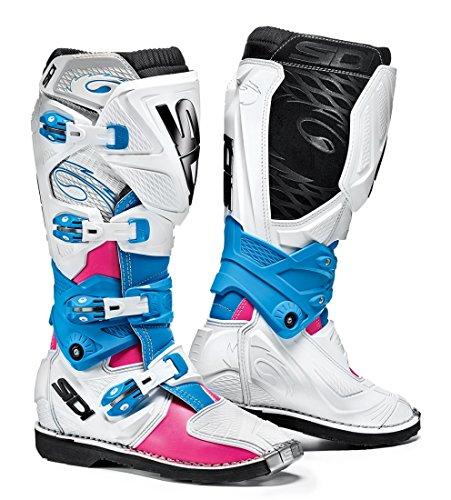 Sidi X-3 Lei Off Road Ladies Motorcycle Boots PinkWhiteLight Blue US95EU42 More Size Options