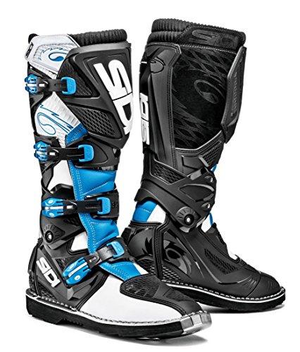 Sidi X-3 TA Off Road Motorcycle Boots WhiteLight BlueBlack US10EU44 More Size Options