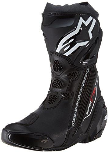 Alpinestars Supertech R Black Motorcycle Boots Supertech-R