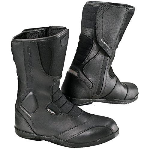 SHIMA STRADA MEN Road Sport Retro Leather Classic Black Motorcycle Boots 45 Black