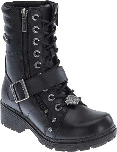 Harley-Davidson Womens Talley Ridge Motorcycle Boot Black 9 M US