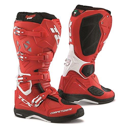 TCX Comp Evo Michelin Enduro Off Road MX Motocross Boots - Red White 48