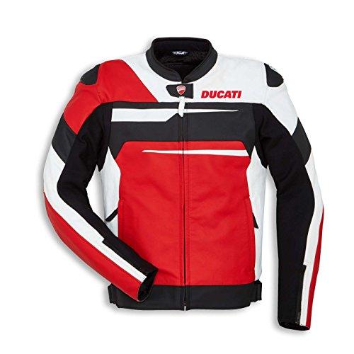 Ducati Speed Evo C1 Perforated Leather Motorcycle Jacket 56 RedWhiteBlack
