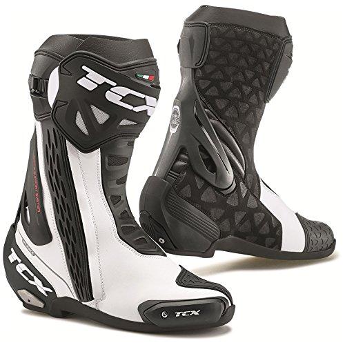 TCX RT-Race Track  Street Motorcycle Boots WhiteBlack EU45US11 More Size Options
