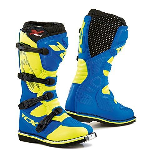 TCX X-Blast Offroad Motorcycle Boots BlueYellow EU43US9 More Size Options