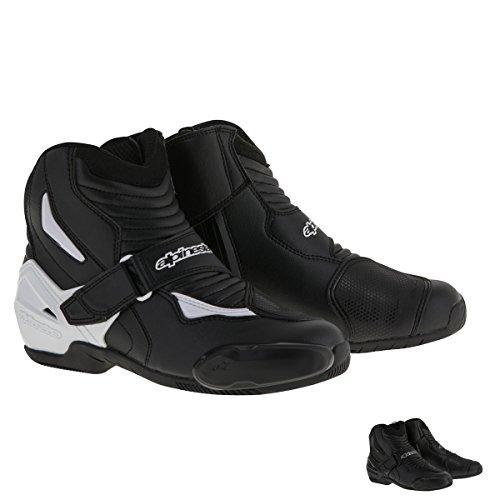 Alpinestars SMX-1R Mens Street Motorcycle Boots - BlackWhite  44
