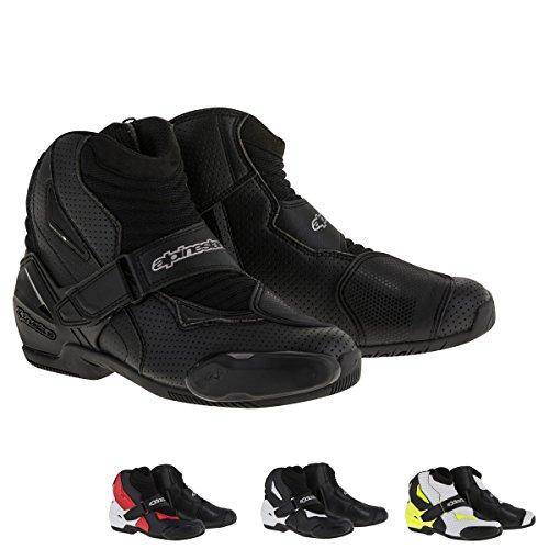 Alpinestars SMX-1R Vented Mens Street Motorcycle Boots - BlackWhiteYellow  45