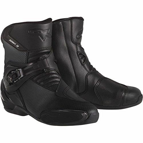 Alpinestars SMX-3 Vented Mens Street Motorcycle Boots - Black  43