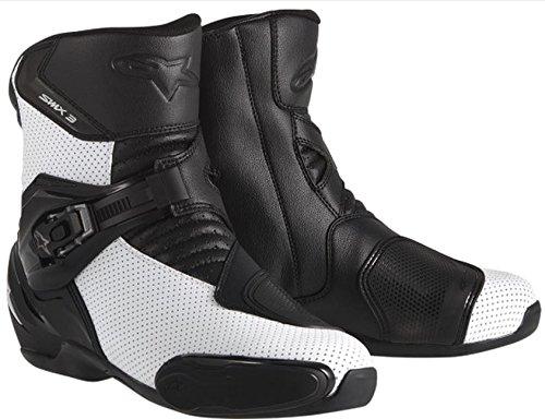 Alpinestars SMX-3 Vented Mens Street Motorcycle Boots - BlackWhite  44