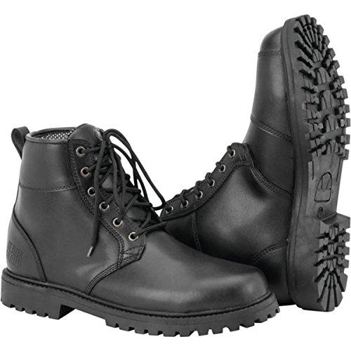 Black Brand Stomper Mens Street Motorcycle Boots - Black  Size 11