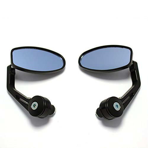 Universal Black Motorcycle 7 8 Handle Bar End Side Mirrors for Cruiser Sport Bikes