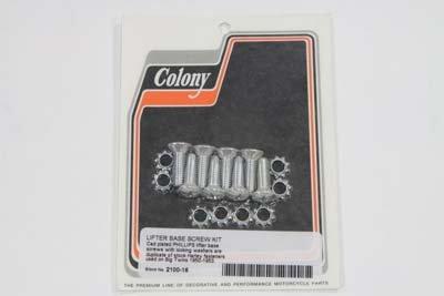 V-Twin 2100-16 - Tappet Block Screw Kit Cadmium