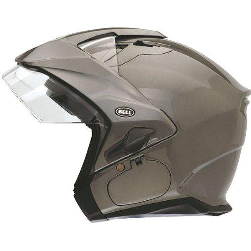 Bell Solid Sena Mag-9 Harley Cruiser Motorcycle Helmet - Titanium  Medium