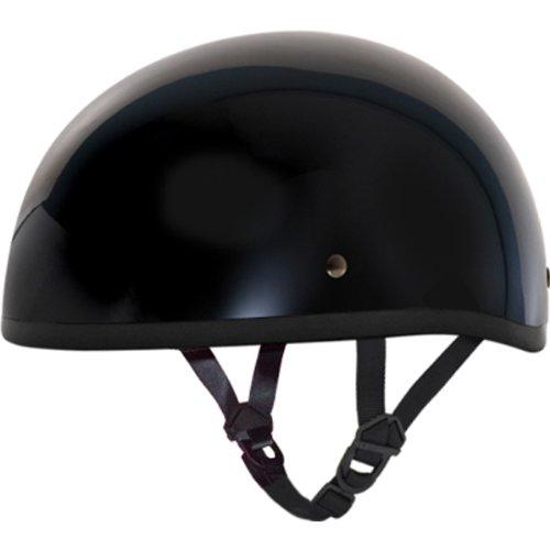 Daytona BasicCustom without Visor DOT Approved 12 Shell Harley Motorcycle Helmet - Hi-Gloss Black  Large