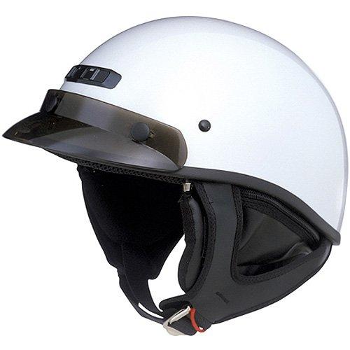 GMAX GM35 Fully Dressed Adult Harley Cruiser Motorcycle Helmet - Pearl White  Large