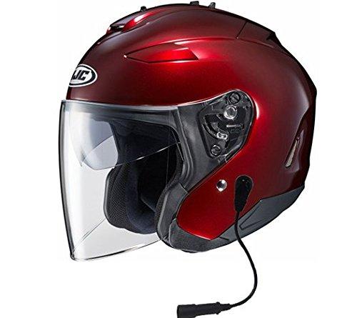HJC IS-33 II Helmet With Headset Harley 7 Pin Wine Large
