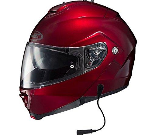 HJC IS-MAX II Helmet With Headset Harley 7 Pin Wine Xlarge