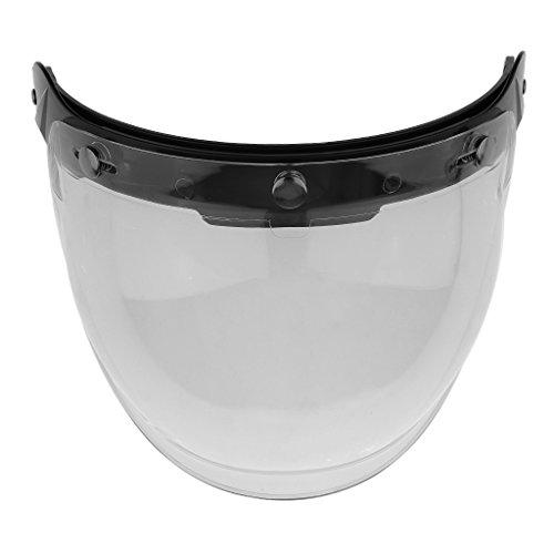 MonkeyJack Motorcycle Helmet Visor Anti-fog Lens Wear-resistant for Harley Helmet - Clear