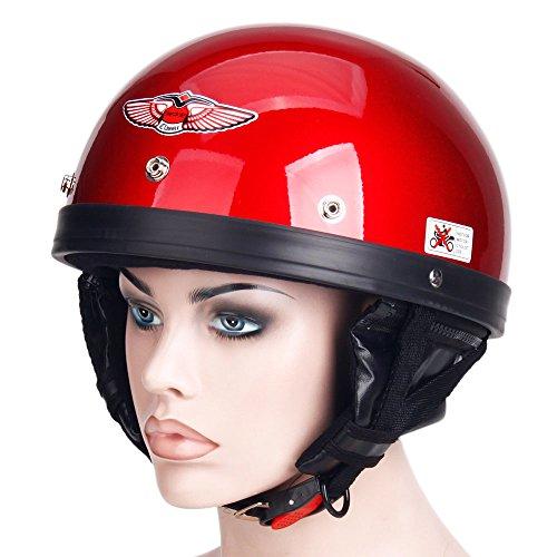 Motorcycle Motorbike Harley Helmet Mens Male Half Face mrcxl02 Red