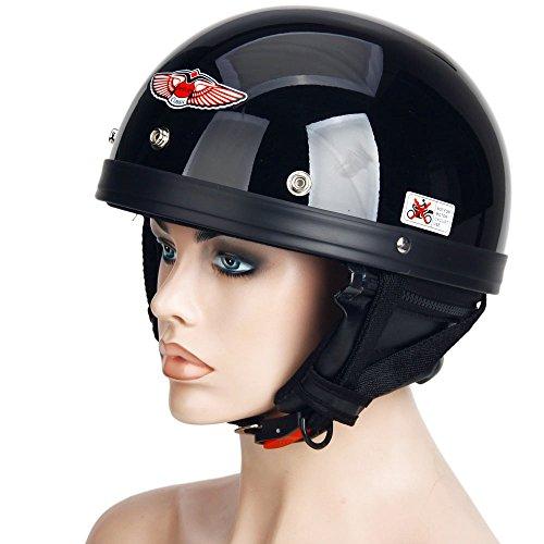 Motorcycle Motorbike Motor Harley Helmet Mens Male Half Face mrcxl02 Black