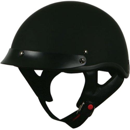 Torc Solid 12 Adult Black Hills T-53 Harley Cruiser Motorcycle Helmet - Flat Black  Large