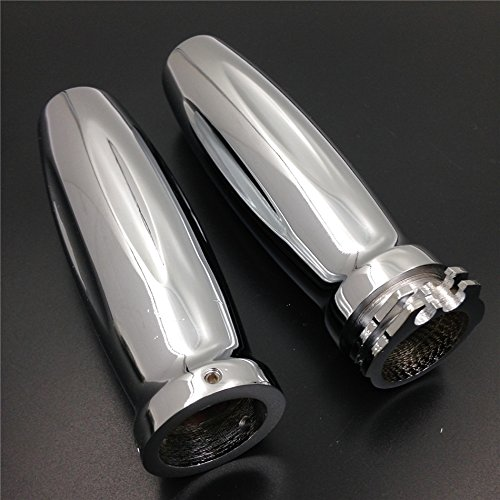 HK MOTO- Replacement Billet Motorcycle 1 Hand Grips for Harley Davidson 1986-2013 CHROME