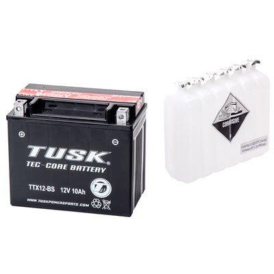 Tusk Tec-Core Battery with Acid TTX12BS Maintenance-Free -Fits Kawasaki 650R Ninja 2006-2015