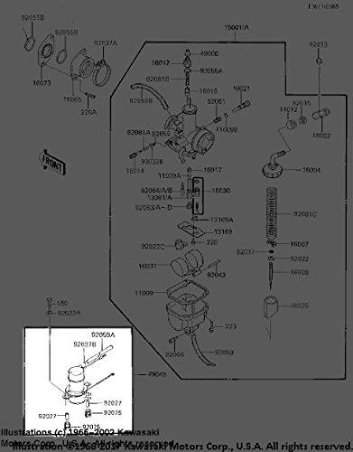 Kawasaki Bayou 185 1985-1988 Gas Fuel Pump 49040-1053 New OEM