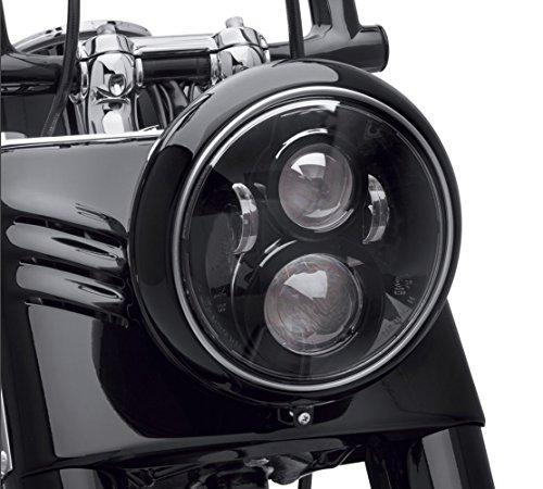 Dot Approved 7Inch Black LED Daymaker Headlight for Harley Davidson Motorcycle TourFLDSoftail HeritageStreet GlideRoad KingElectra GlideYamaha V-Star Road Star Jeep Wrangler