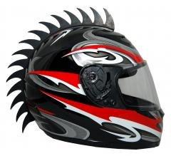 Motorcycle Dirtbike ATV Snowmobile Helmets Helmet Warhawks Mohawks Mohawk Helmet not Included saw
