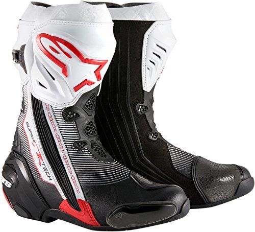 Alpinestars Supertech R Mens Street Motorcycle Boots - BlackRedWhite  40