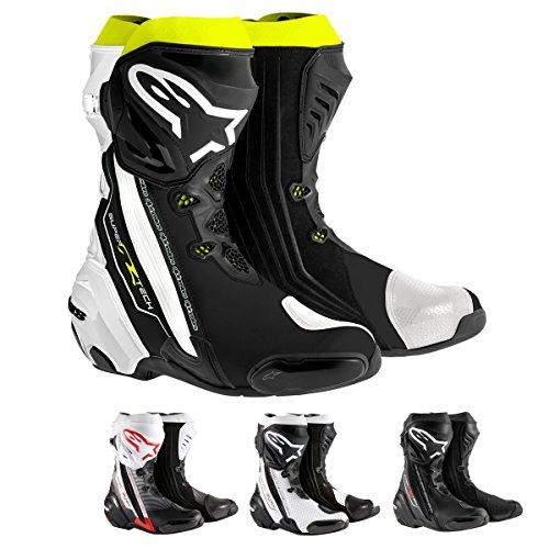 Alpinestars Supertech R Mens Street Motorcycle Boots - BlackRedWhite  45