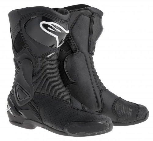 Alpinestars SMX-6 Mens Motorcycle Street Boots Vented Black EU Size 44 by Alpinestars
