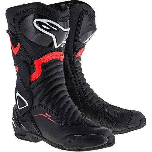 Alpinestars SMX-6 V2 Mens Street Motorcycle Boots - BlackRed  46