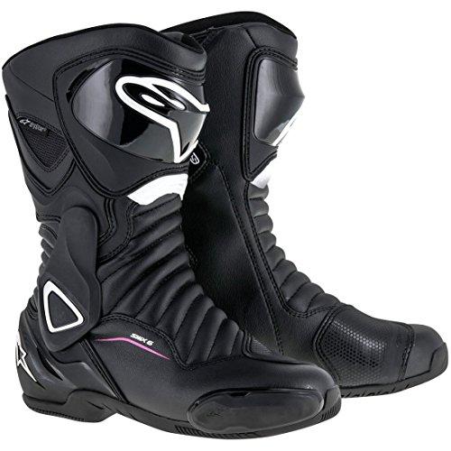 Alpinestars Stella SMX-6 V2 Drystar Black White Pink Motorcycle Boots