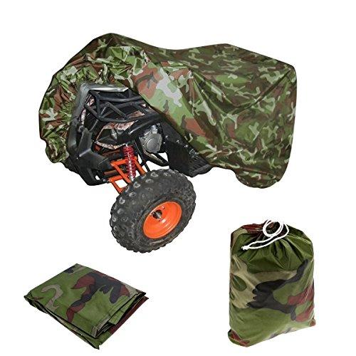 VVHOOY ATV Cover Waterproof Heavy Duty Outdoor Protection All Weather Quad Cover Compatible with Honda Polaris Sportsman Yamaha Suzuki Kawasaki 4 Wheeler from Snow Rain SunCamouflage86x38x42inXXL