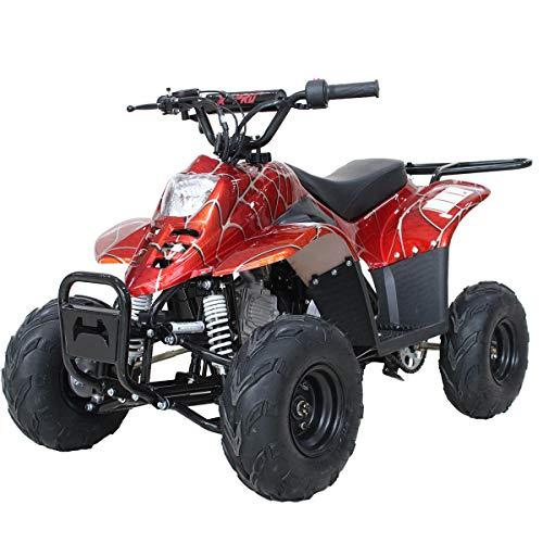 X-PRO 110cc ATV Quad Youth ATVs Quads 110cc 4 Wheeler ATVs Kid Size ATV 4 Wheelers ,Spider Red