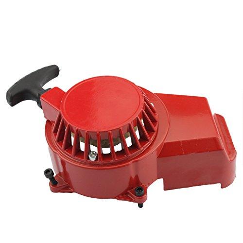 GOOFIT Alloy Pull Start Recoil Starter 2 Stroke 47cc 49cc Pocket Dirt Bike Mini ATV Red