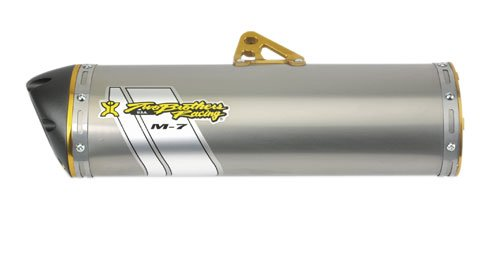 Two Brothers Racing005-2560406V Stainless Steel M-7 Aluminum Canister Slip-On Exhaust System