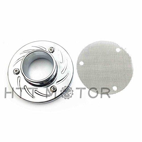 HTTMT- 2000-2005 ATV Exhaust Tip Muffler Power Outlet Polished Chrome For Honda Txr450R